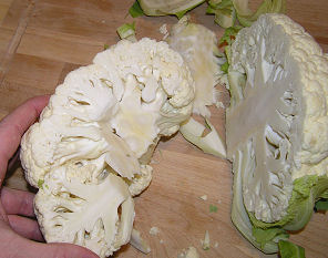 Cauliflower - Cored